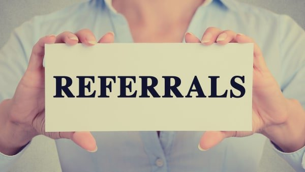 Making or getting a referral